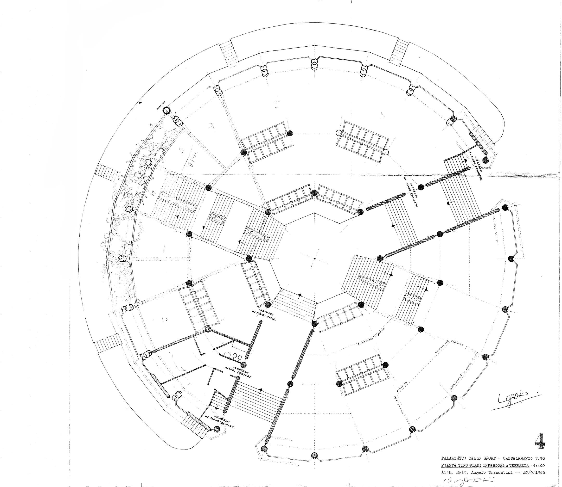 Concorso d 39 idee per la riqualificazione del polo sportivo for Campo sportivo seminterrato